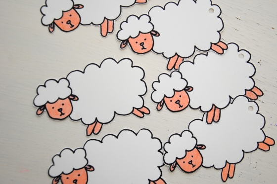 sheep gift tags